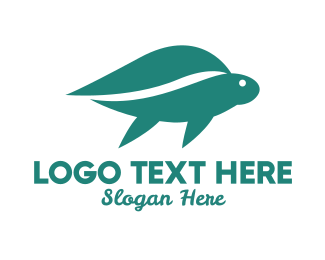 Sea Turtle - Turtle Leaf logo design