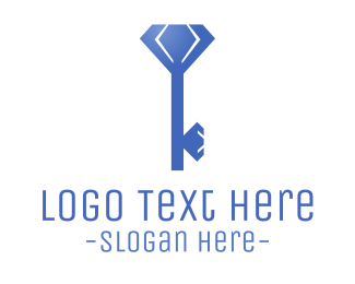 Key - Diamond Key logo design