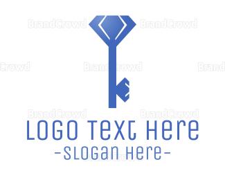 Key - Diamond Key logo design