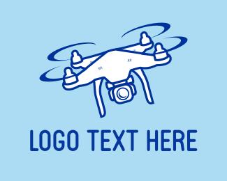 Aerial - Blue Drone logo design