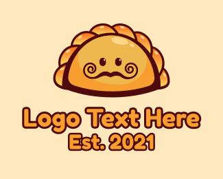 Food Store - Meat Pie Food Mascot logo design