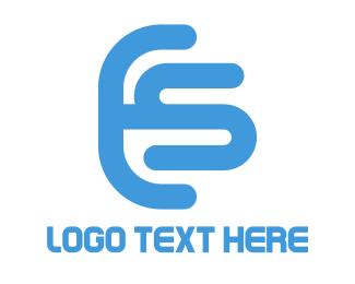 Combined - Letter ES Logo logo design