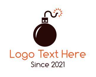 Tnt - Tech Bomb logo design