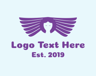 Angel - Purple Angel  logo design
