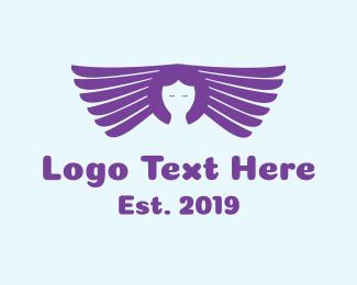 Angel - Purple Angel  logo design
