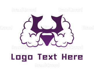 Burning Man - Violet Bearded V  logo design