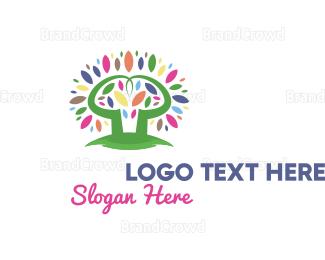 Biological - Colorful Leaves logo design