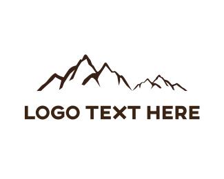 Mountain - Black Mountains logo design