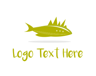 Swim - Fish & Horns logo design