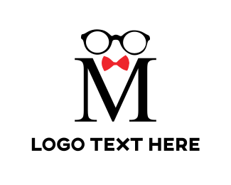 Gentleman - Black Glasses logo design