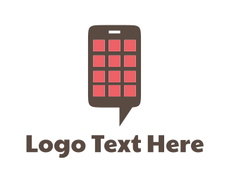 Cell Phone - Chat Application logo design