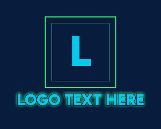 Cyber Cafe - Glowing Neon Tech Startup Letter logo design