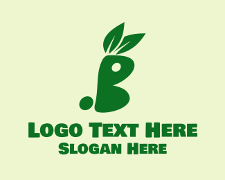 Vegan Meat - Green Bunny logo design
