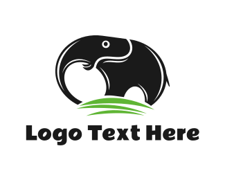 African - Black Elephant Mountain logo design