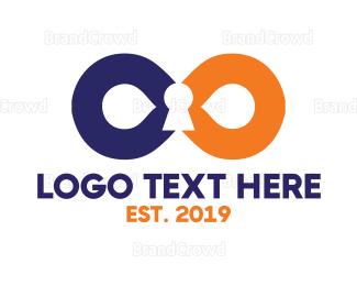 Biometric - Infinity Lock logo design