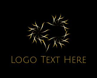 Twinkle - Golden Stars logo design