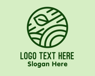 Rice Field - Green Field Leaf  logo design