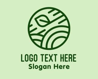 Grower - Green Organic Eco Circle logo design