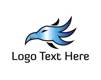 Chrome - Metallic Bird logo design