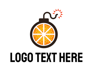 Explosive - Orange Weapon logo design