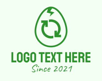 Logistic - Green Recycle Egg logo design