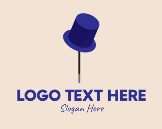 Comedian - Magician Top Hat  logo design