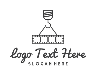 Hollywood - Movie Crane logo design