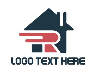 Property Management - Letter R House logo design