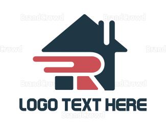 Broker - Letter R House logo design