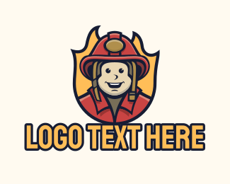 Fire - Firefighter Protection Mascot logo design