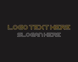 70s - Futuristic Font Text logo design