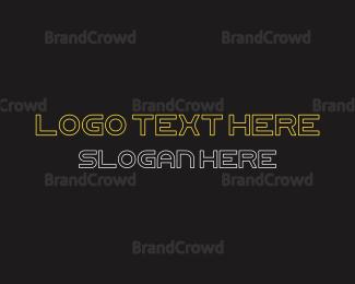 Actor - Futuristic Font Text logo design