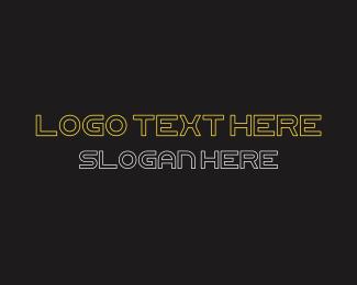 Typography - Futuristic Font Text logo design