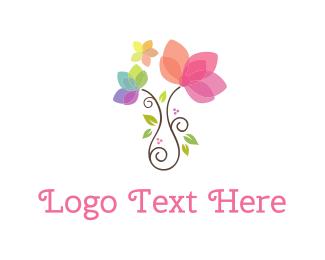 Decor - Girly Flower Pot logo design