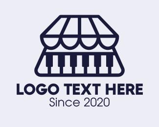 Shop - Piano Music Shop logo design
