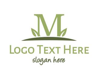 Horticulture - Green M Plant logo design