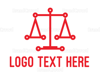 Balance - Red Scale Tech logo design