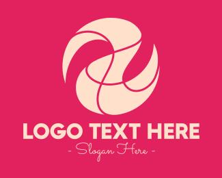 Shape - Abstract Pink Shape logo design