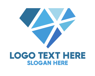 Accessory - Shattered Blue Diamond logo design