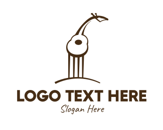 String Instrument - Guitar Giraffe logo design