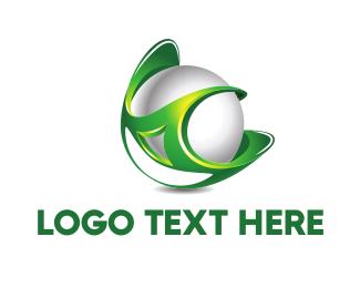 Pearl - Green Globe logo design