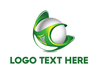 Digital - Green Globe logo design