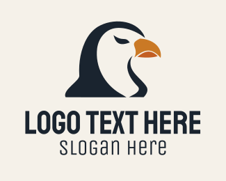 White And Brown - Brown Bird logo design