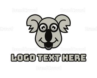 Baby Boutique - Grey Happy Koala logo design