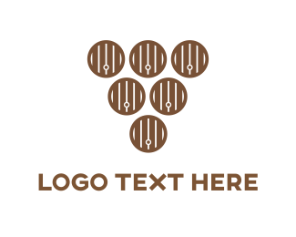 Vinery - Wood Barrels logo design