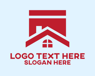 Banner - Red House Banner logo design