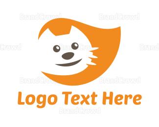 Smiling - Orange Happy Cat logo design