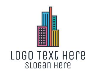 Trendy - Colorful Modern City  logo design