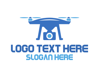 Drone Racing - Blue Drone Photography logo design