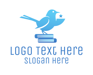 Books - Smart Bird logo design